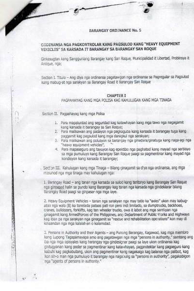 Barangay Ordinance No. 5