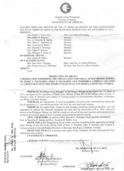 Sangguniang Bayan Resolution